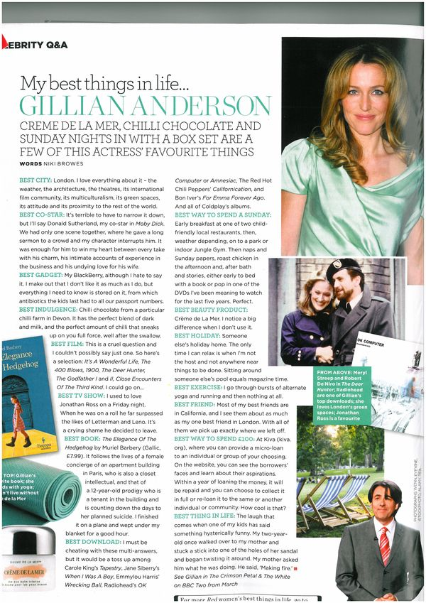 Gillian Anderson Interview